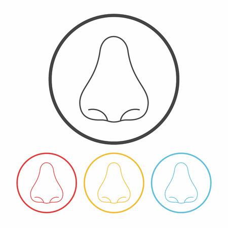 nostril: nose line icon