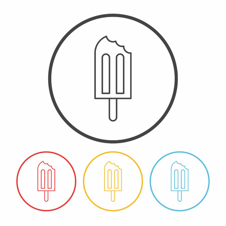 popsicle: Popsicle line icon