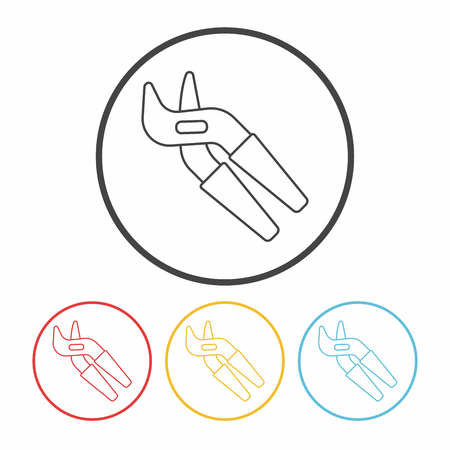alicates: Icono Alicates línea