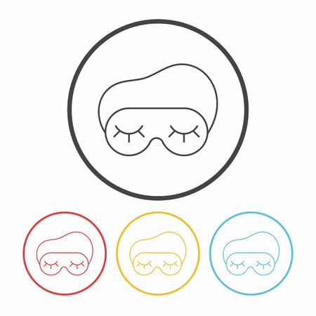 eye mask: eye mask line icon Illustration