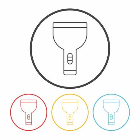 flashlight: Flashlight line icon Illustration
