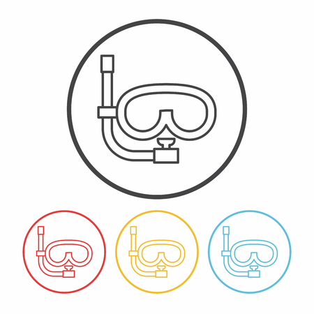 wear mask: Goggles line icon Illustration