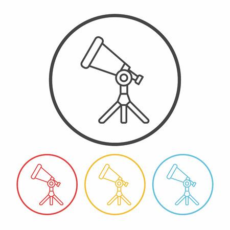 planetarium: telescope line icon