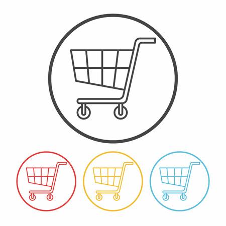 shopping cart icon: shopping cart line icon