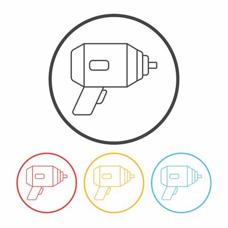 drill: drill line icon