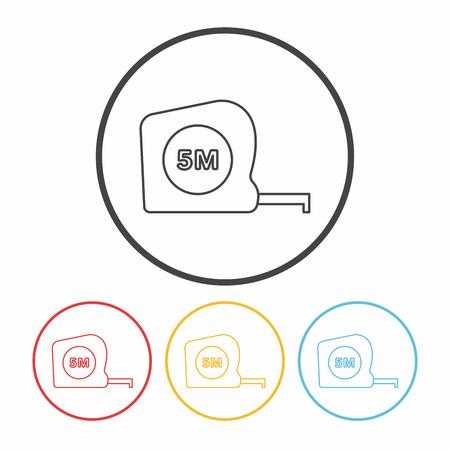 long distance: Measuring tape line icon Illustration