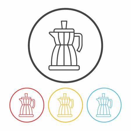 maker: coffee maker line icon