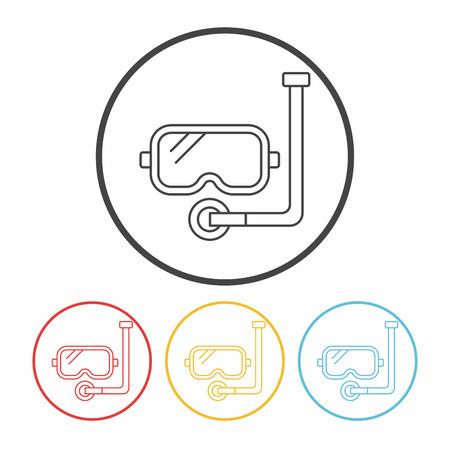 Goggles line icon Illustration