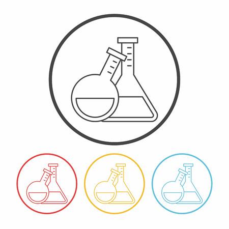 Experimental drugs line icon Illustration