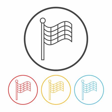 racing flag: Racing flag line icon