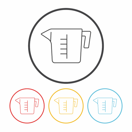 measuring: Measuring cup line icon Illustration