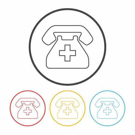 emergency call: emergency call line icon Illustration