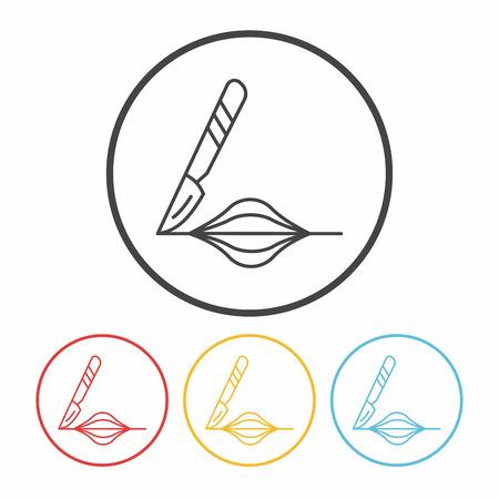 scalpel: Scalpel line icon
