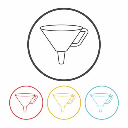 funnel: Funnel line icon