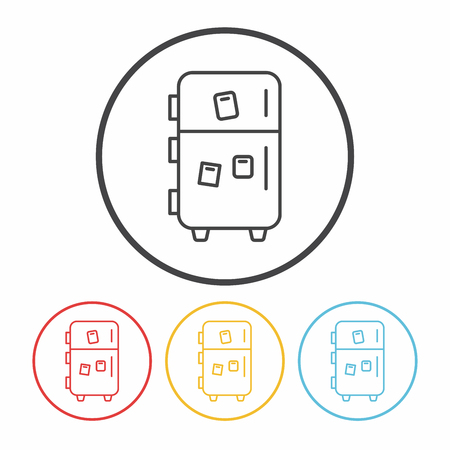 refrigerator: Refrigerator line icon
