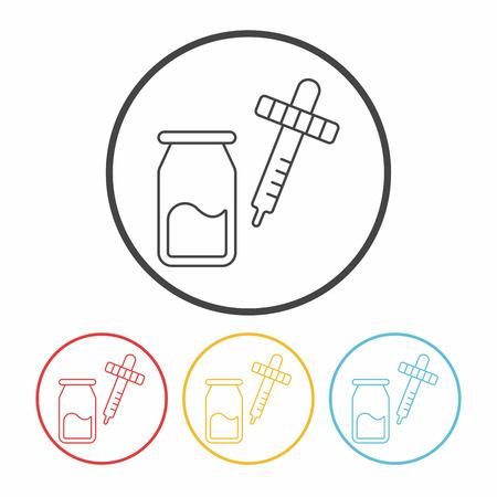 experimental: Experimental drugs line icon Illustration