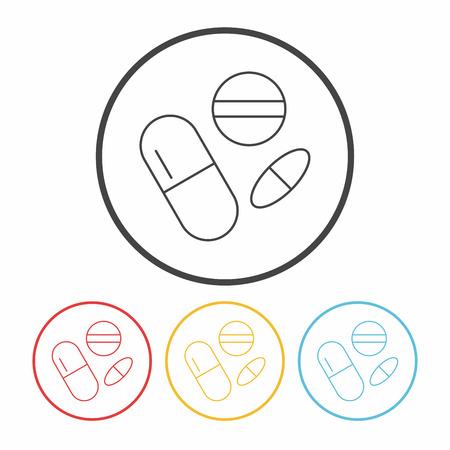 painkiller: medicine line icon