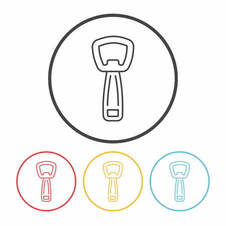 the opener: Bottle Opener line icon Illustration