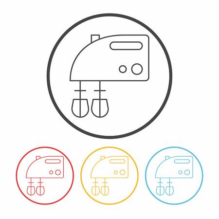batidora: beater line icon Vectores