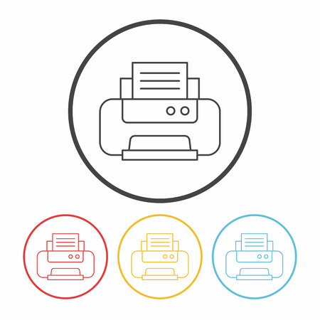 printer line icon Stock Vector - 51002589