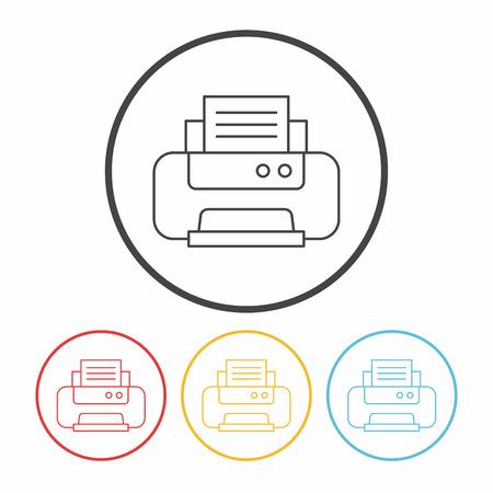 printer line icon Illustration