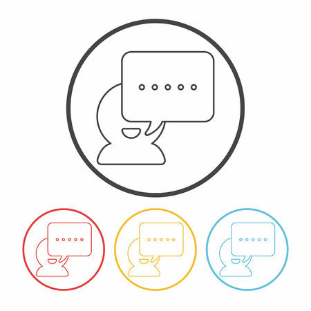 black lady talking: office conversation line icon