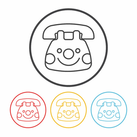 baby toy: baby toy phone line icon