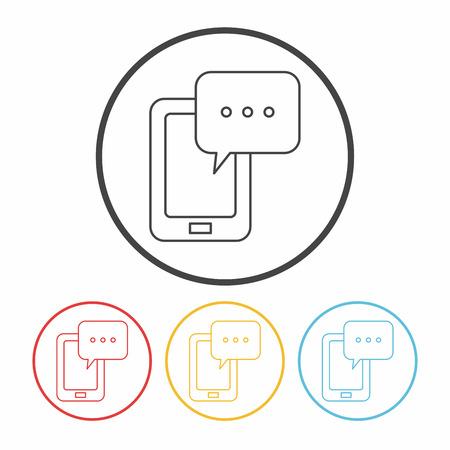 phone icon: phone line icon