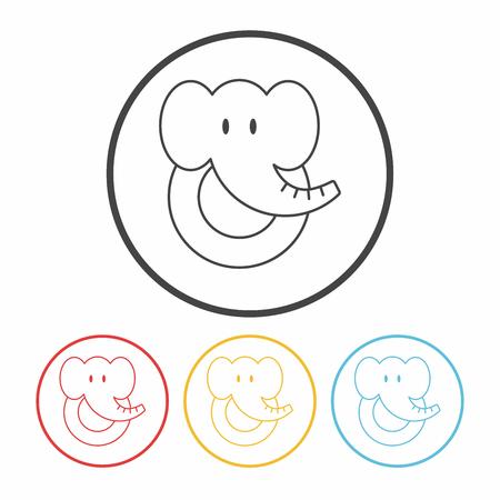 toy elephant: toy elephant icon