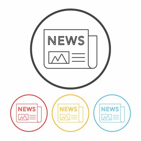 newsprint: news line icon