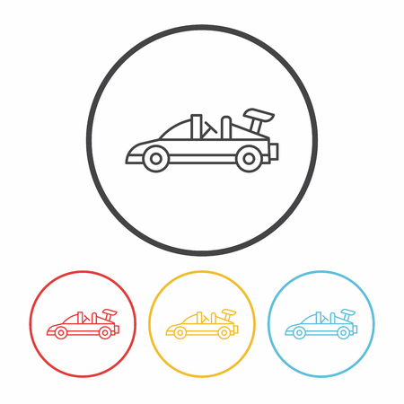 car: toy car icon Illustration