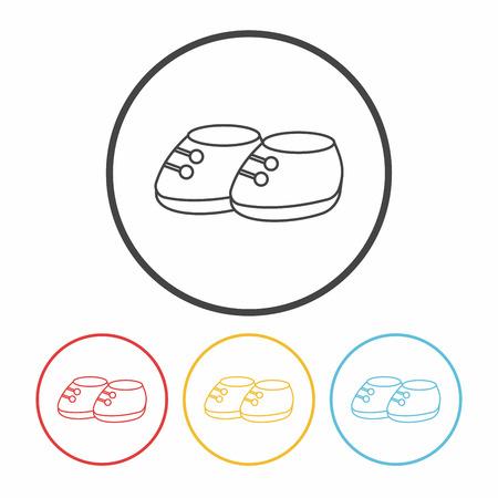 Babyschuhe line icon Vektorgrafik