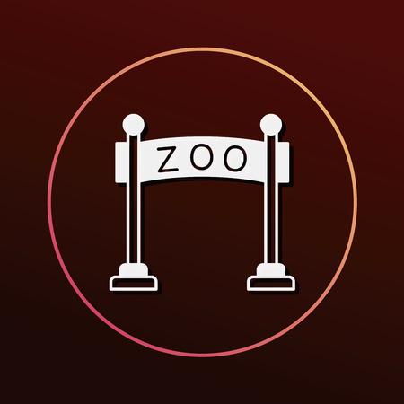 entrance: zoo gate icon