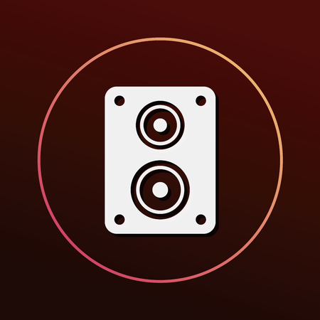 electronic background: stereo icon