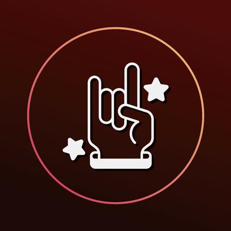 rocker: rocker hand icon