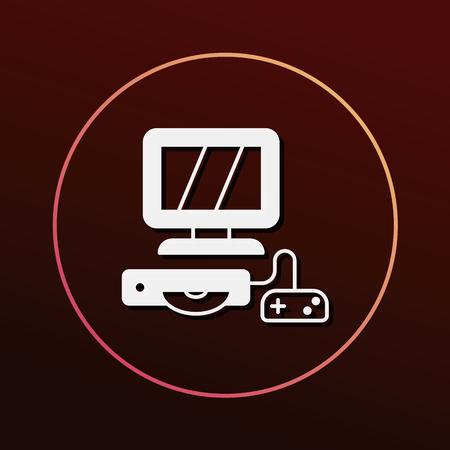 computer game: computer game icon