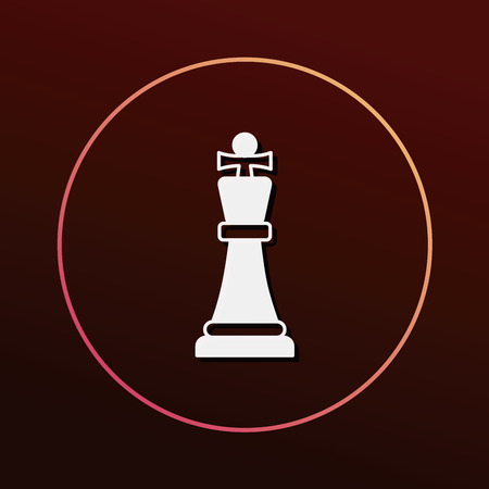 chess knight: chess icon Vectores