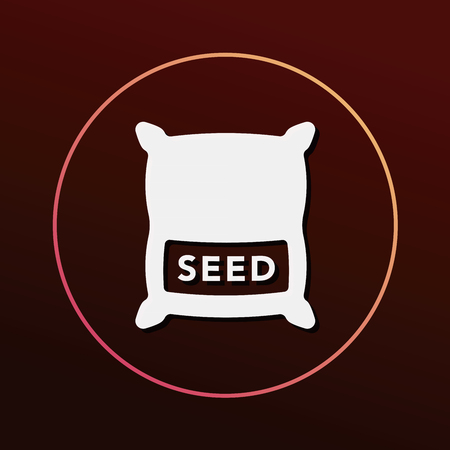 beans and rice: seed icon Illustration