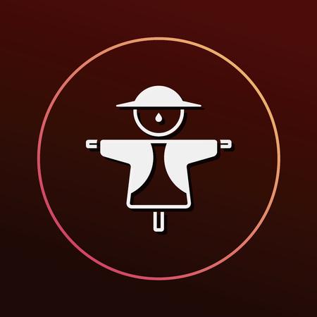 espantapajaros: Icono Espantapájaros Vectores