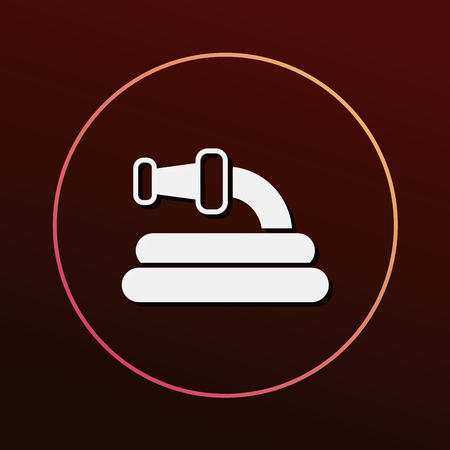 drainage: Water pipe icon Illustration
