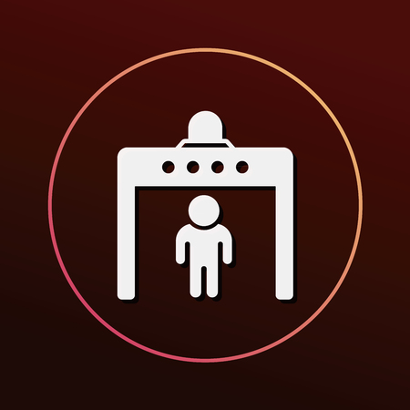 road closed: security gate icon Illustration