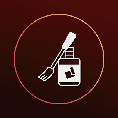 glue: icono de pegamento