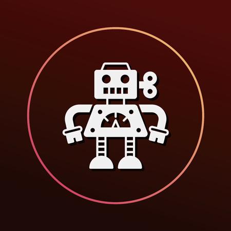 robot toy: robot icon