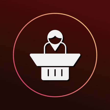lawyer court: judge icon