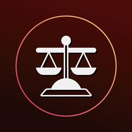 lawyer court: Balance icon