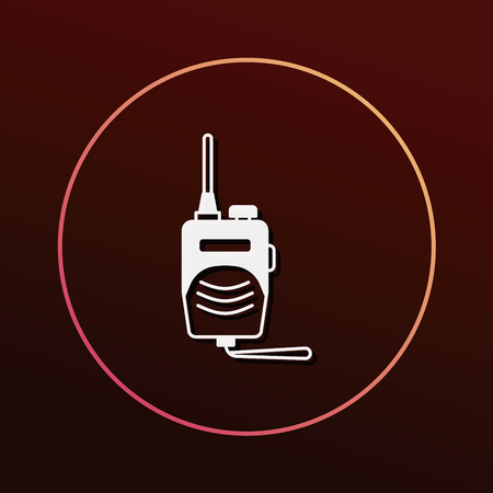 radio frequency: walkie icon