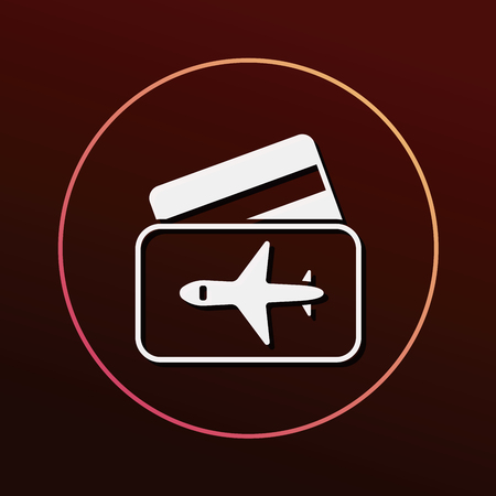 airplane ticket: airplane ticket icon