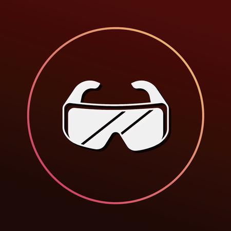 sport wear: Goggle icon