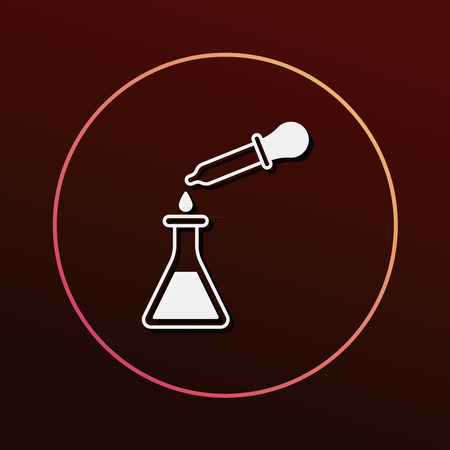 laboratory glass: Beaker icon