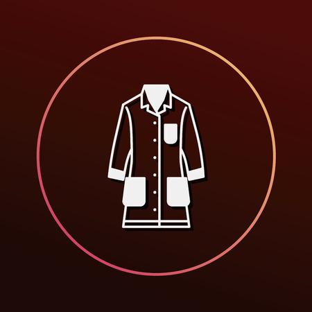 female scientist: Lab coat icon Illustration